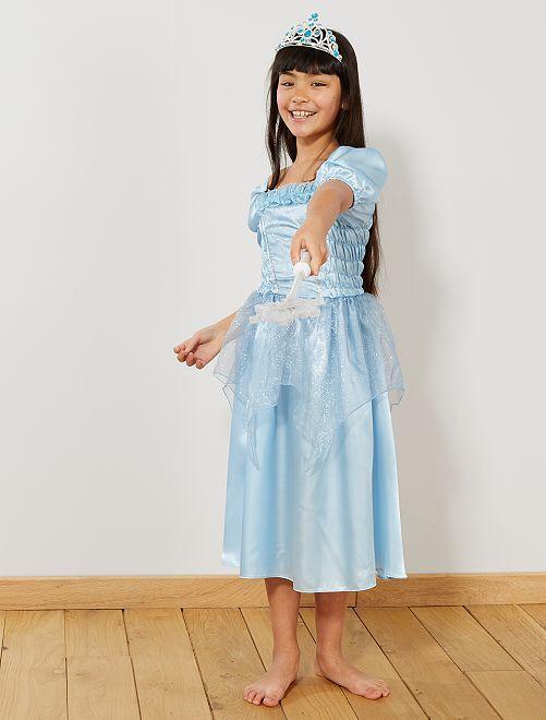 Disfraz de princesa                                         azul Niños