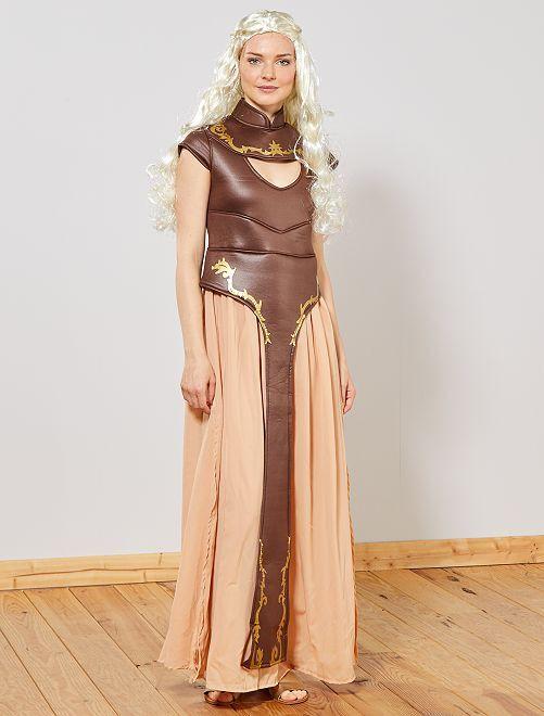 Disfraz de princesa medieval                             marrón