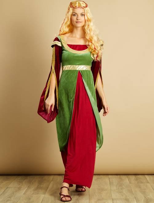 Disfraz de princesa medieval                             verde