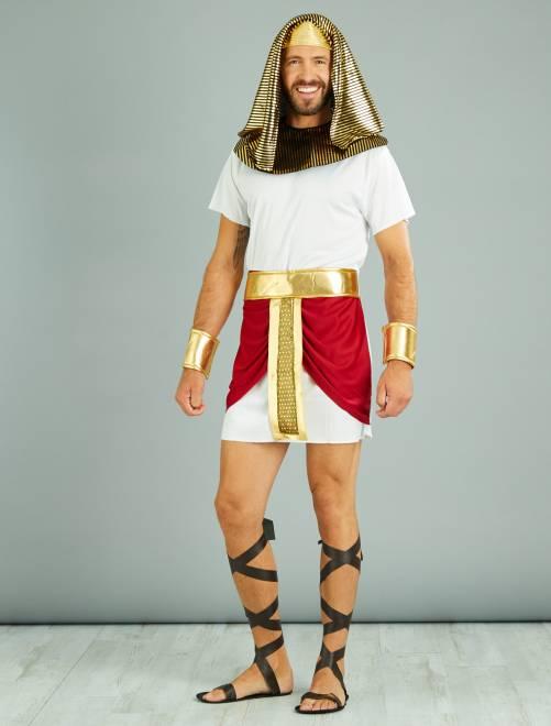 Disfraz de rey egipcio                             blanco Hombre