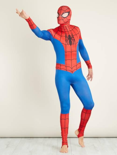 Disfraz de 'Spiderman' segunda piel con verdugo                             azul/rojo