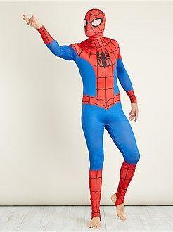 Disfraces hombre - Disfraz de 'Spiderman' segunda piel con verdugo