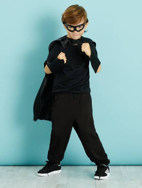 Disfraz de superhéroe                             negro Niños