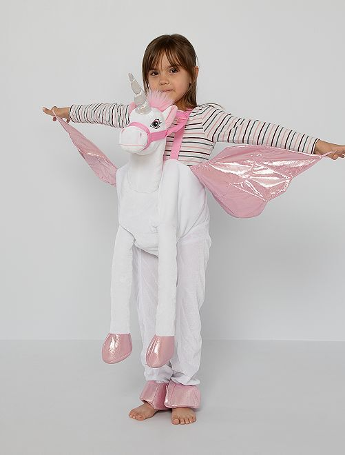 Disfraz de 'unicornio' 3D                             rosa blanco