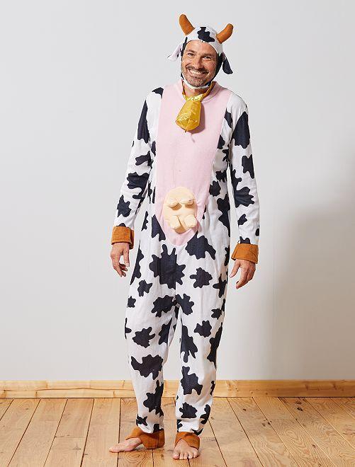 Disfraz de vaca                             blanco/negro Hombre