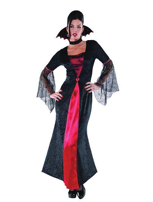 Disfraz de vampiresa                             negro/rojo