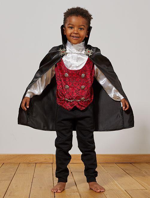 Disfraz de vampiro                             negro/rojo