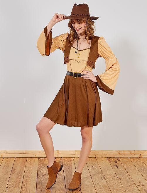 Disfraz de vaquera para mujer                             marrón