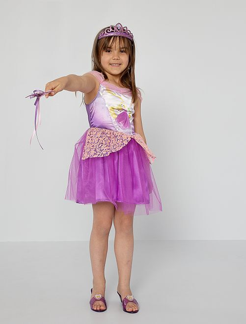 Disfraz de vestido de 'Rapunzel'                             violeta/rosa