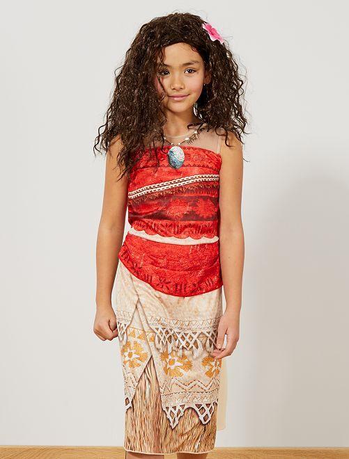 Disfraz de vestido de 'Vaiana'                             beige