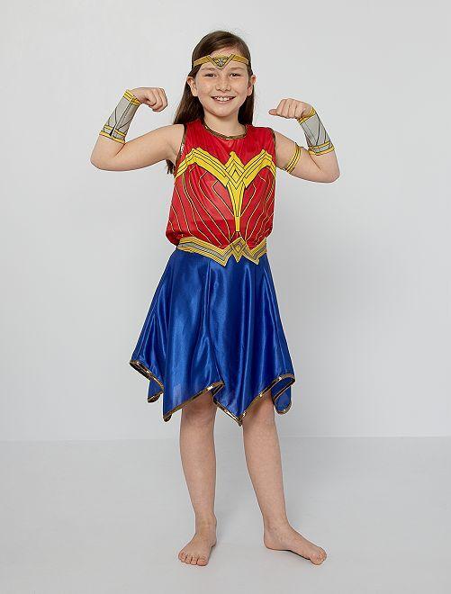Disfraz de 'Wonder Woman'                             rojo/azul
