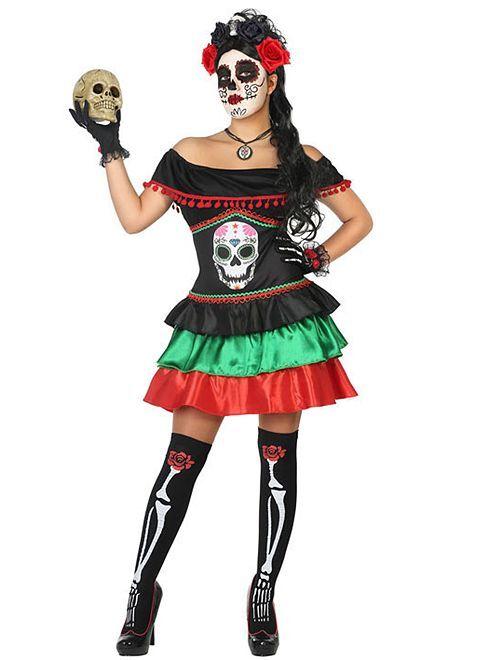 Disfraz 'Día de los Muertos'                             NEGRO