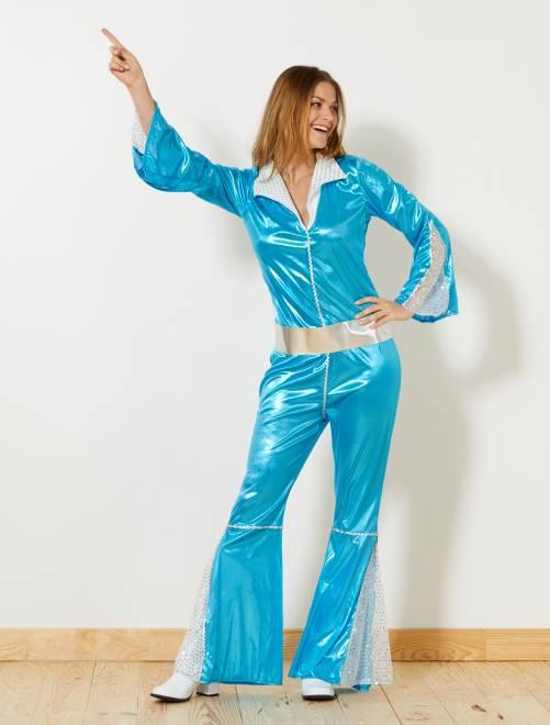 Disfraz 'disco'                             azul Mujer