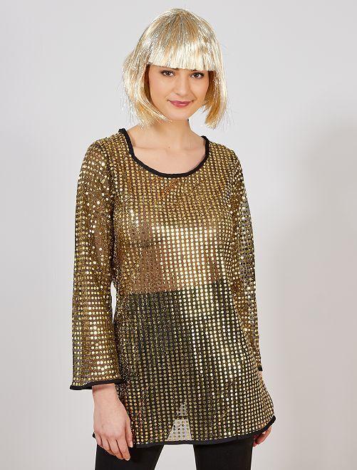 Disfraz 'disco'                                                     oro