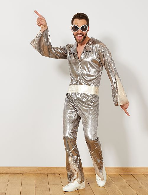 Disfraz 'disco'                             plata Hombre