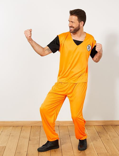 Disfraz manga                             naranja Hombre