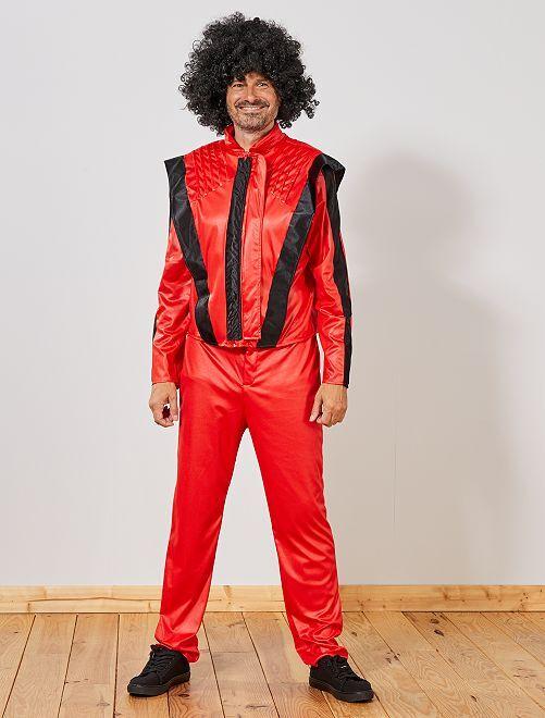 Disfraz 'Michael'                             rojo/negro Hombre