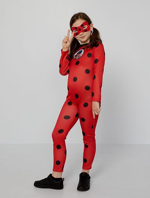 Disfraz mono 'Miraculous'                             rojo/negro