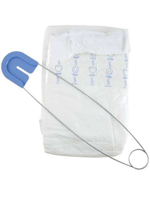 Disfraz 'pañal' + imperdible                             blanco Accesorios