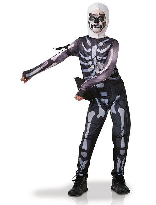 Disfraz 'Skull Trooper Fortnite'                             negro/blanco