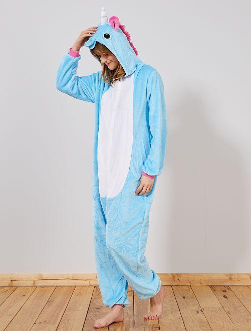 Disfraz tipo mono de 'unicornio'                             azul