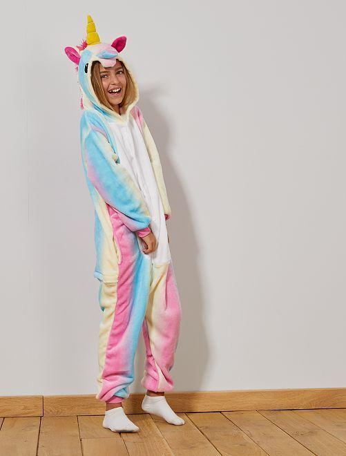 Disfraz tipo mono de unicornio                             multicolor Niños