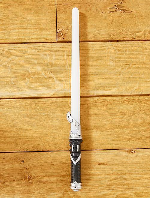 Espada láser luminosa y sonora                             blanco Chico