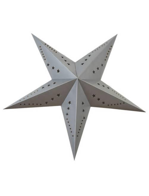 Estrella de decoración 60 cm                                                                             gris