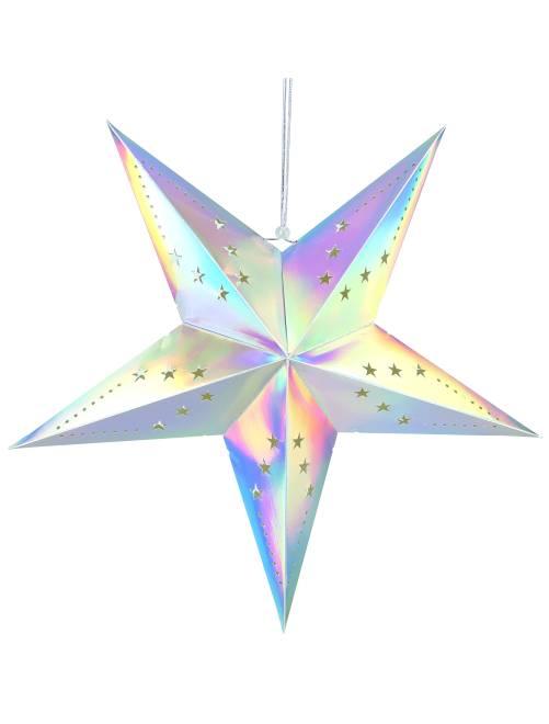 Estrella de decoración 60 cm                                                     multicolor