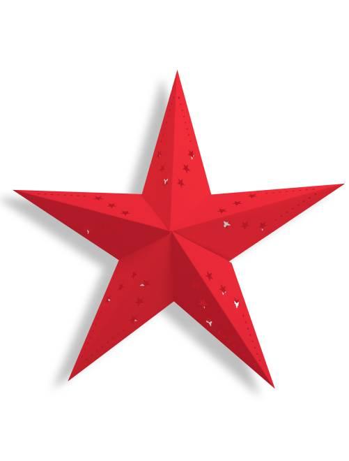 Estrella de decoración 60 cm                                                                             rojo