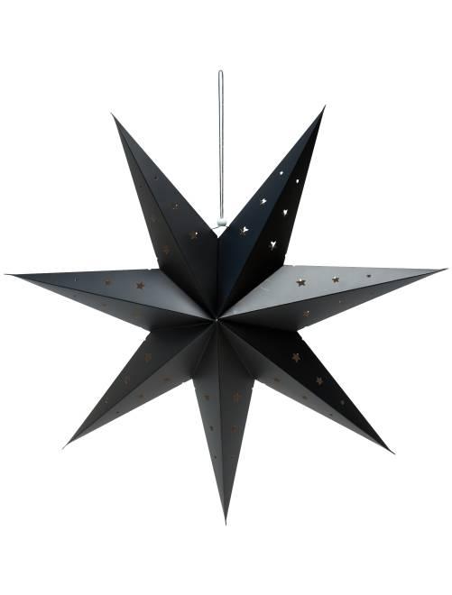 Estrella de decoración 70 cm                             negro