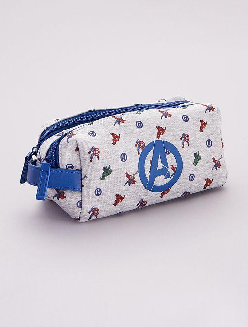 Estuche 'Los Vengadores' 'Marvel' 2 compartimentos                             azul