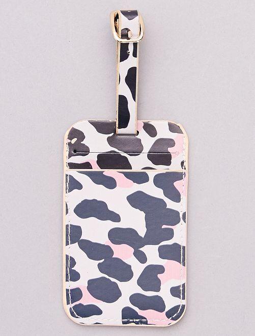 Etiqueta para bolsa de viaje                                         leopardo