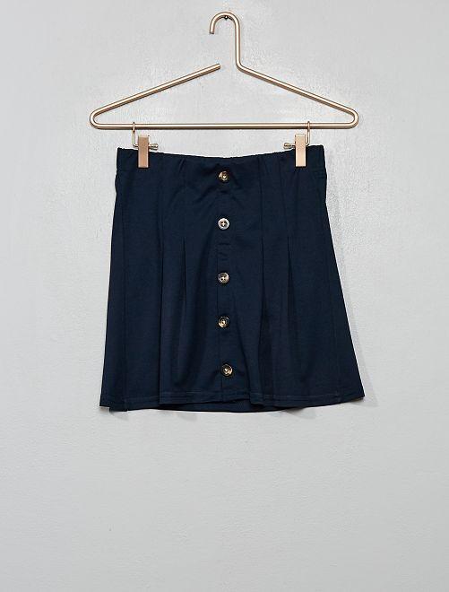 Falda abotonada                                         azul