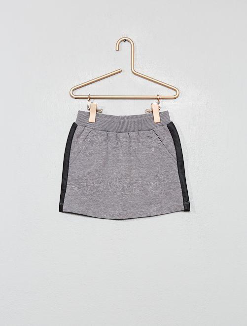 Falda con bandas laterales sintéticas                                                                 gris