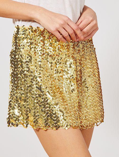 Falda con lentejuelas                                                                             dorado