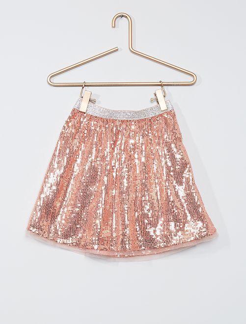 Falda con lentejuelas                             rosa