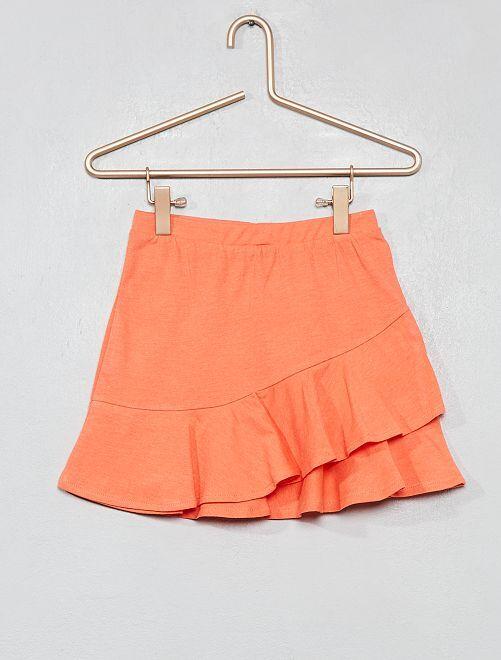 Falda con volantes                                                                                         coral Chica