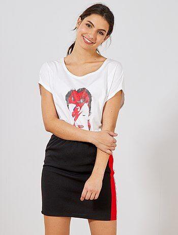 Mujer talla 34 a 48 - Falda corta con bandas a contraste - Kiabi 4d95d3229a42