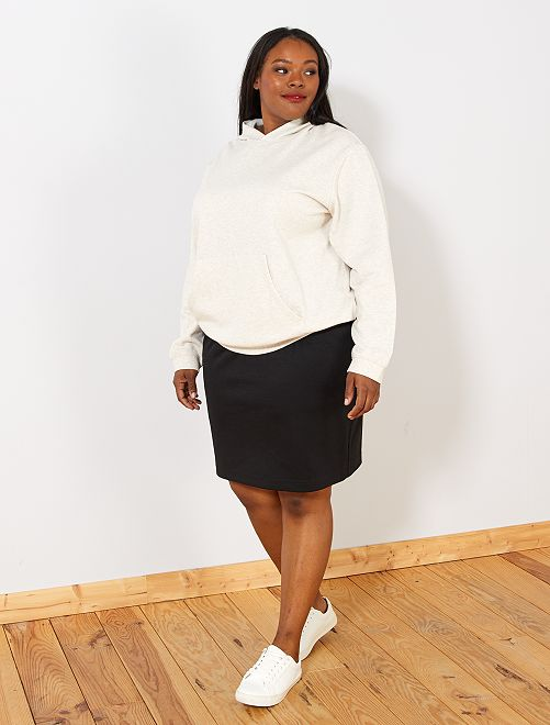 Falda corta de punto milano                             negro