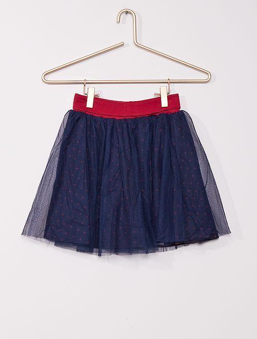Falda corta de tul                                         azul marino
