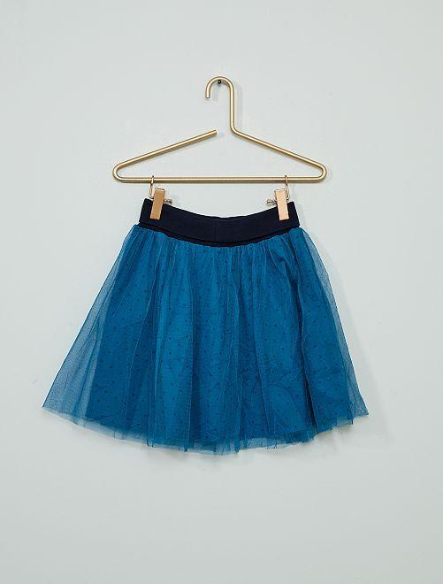 Falda corta de tul                                         azul