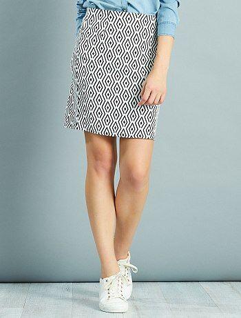 Mujer talla 34 to 48 - Falda corta elástica estampada - Kiabi
