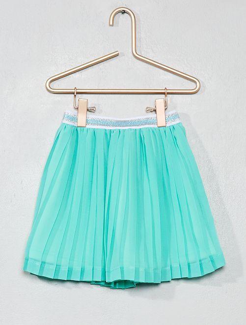 Falda corta plisada                                                     VERDE Chica