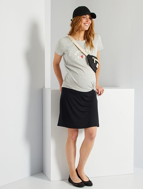 Falda corta premamá                                                     negro