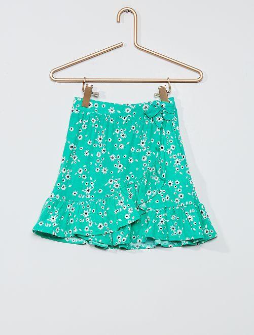 Falda cruzada de flores                                                                 VERDE