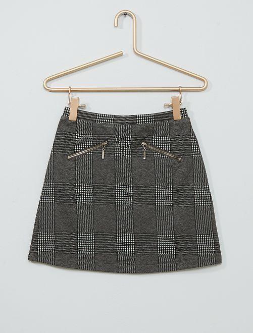 Falda de cuadros                             GRIS