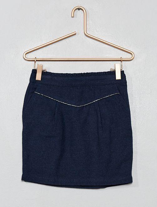 Falda de efecto lana                                         AZUL