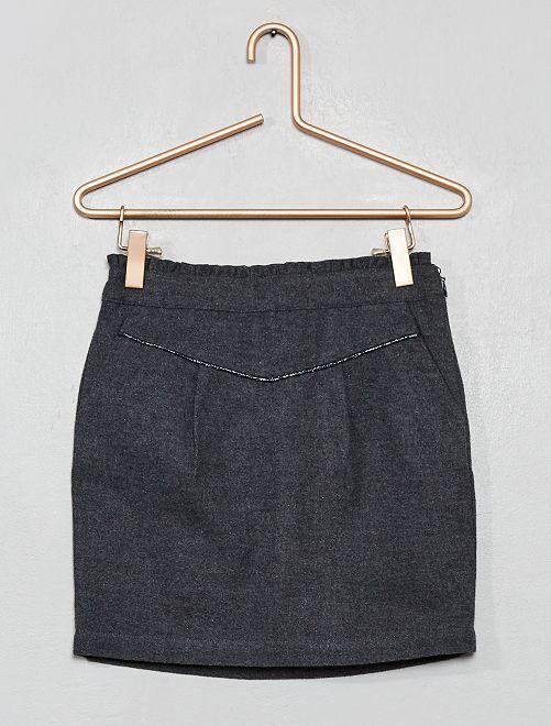 Falda de efecto lana                                         GRIS