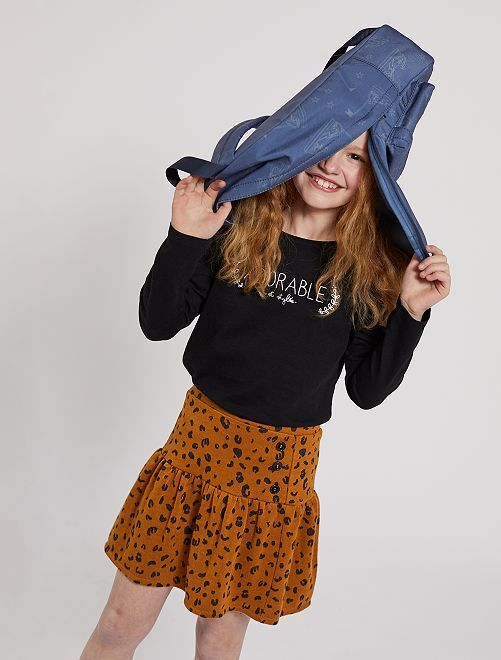 Falda de 'leopardo'                                         MARRON Chica